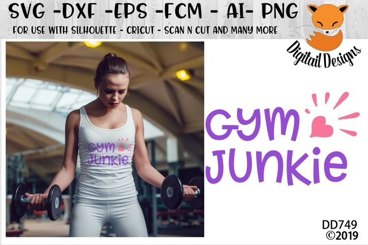 Gym Junkie Fitness Exercise SVG example image 1
