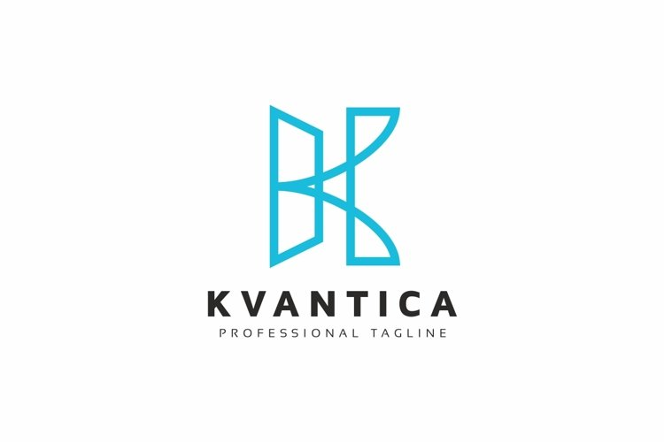 K Letter Line Logo example image 1