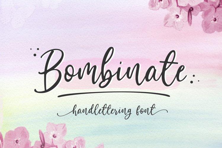 Bombinate // Handlettering Font example image 1