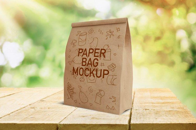 Fast Food Paper Bag Mockup example image 1