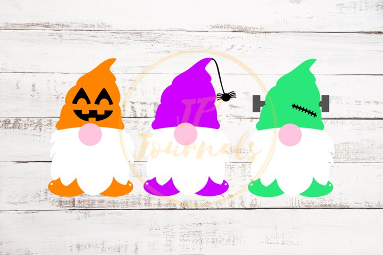 Halloween Gnomes SVG, Cute Gnomes, Halloween SVG example image 1