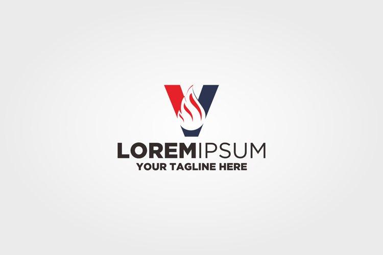 Letter V Oil Logo example image 1