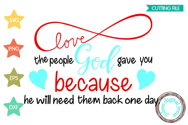 Love the People God Gave You, Christian, Julies digital Jems example image 1