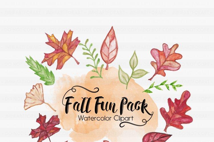 Fall Clipart-Halloween Clipart-Pumpkin Clipart-Leaf Clipart-Foilage Clipart-Clipart-Watercolor leafs-Watercolor Halloween-Watercolor Pumpkin example image 1