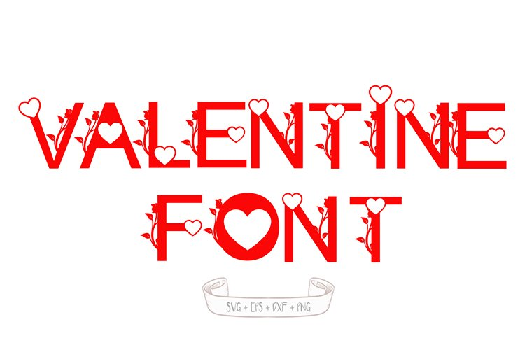 valentine's day font svg example image 1