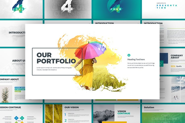 Four Business Powerpoint Presentation Template