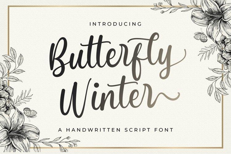 Butterfly Winter - Handwritten Font example image 1