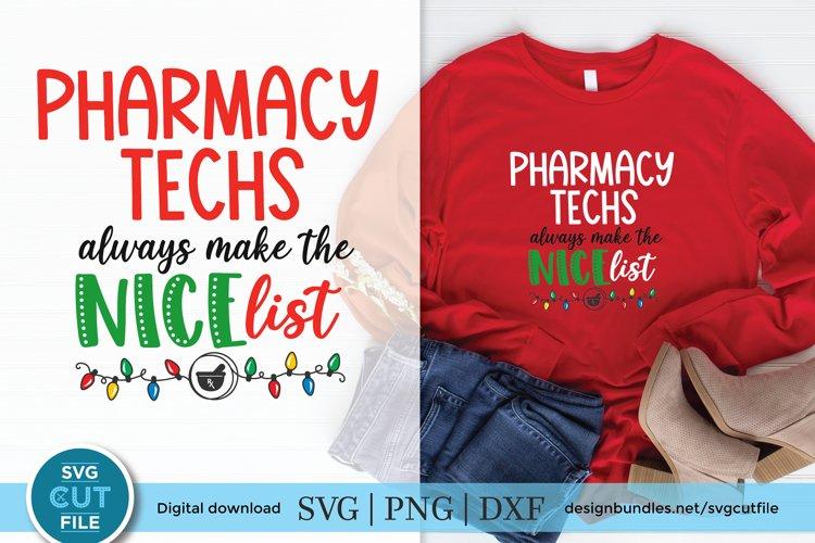 Christmas Pharmacy Technician svg - Pharmacy Tech christmas example image 1