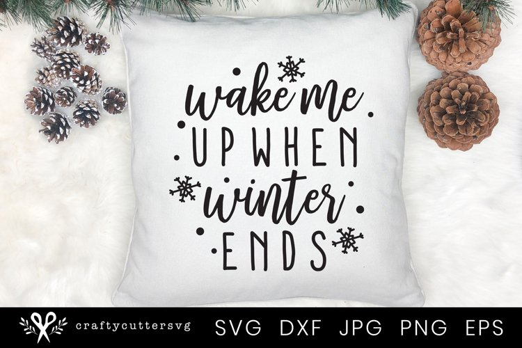 Winter Svg Pillow | Winter Cushion Cut File for Cricut example image 1