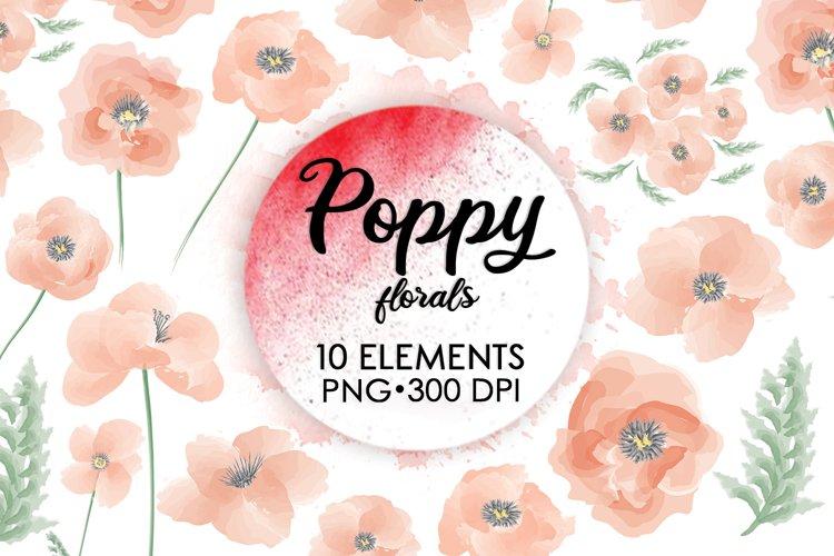 Floral Clipart, Watercolor Flowers, Boho Flowers, Bouquet example image 1