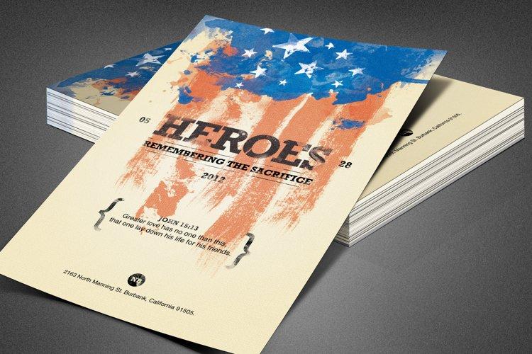 Heroes Memorial Day Flyer Template