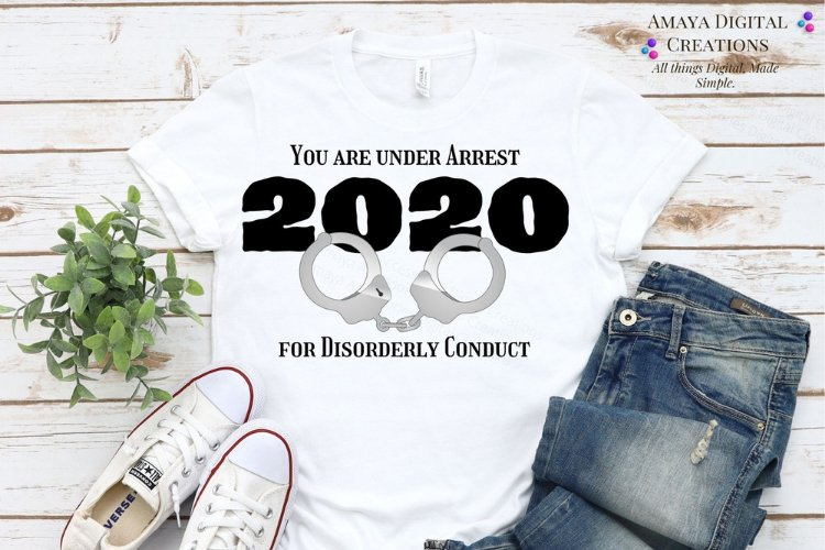 Arrest 2020 Png ,Funny Quotes, Instant Download example image 1