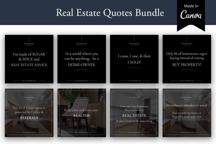 Editable Real estate Instagram Quotes, Real Estate agents