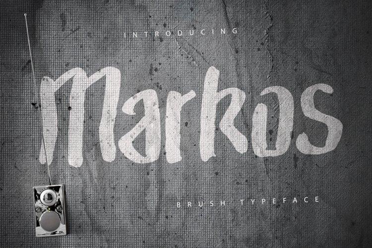 Markos Brush Typeface example image 1
