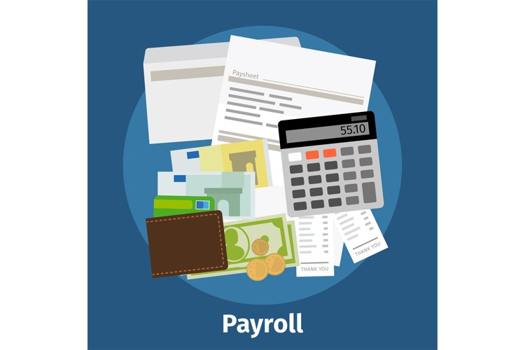 Invoice sheet, paysheet or payroll icon example image 1