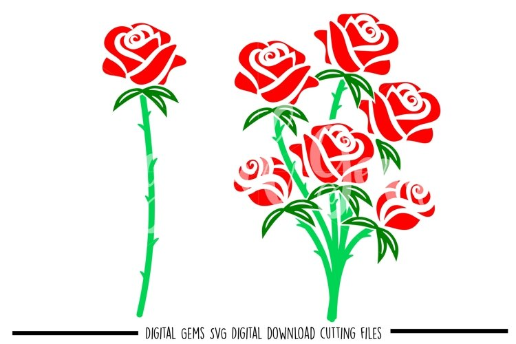Rose SVG / PNG / EPS / DXF Files example image 1