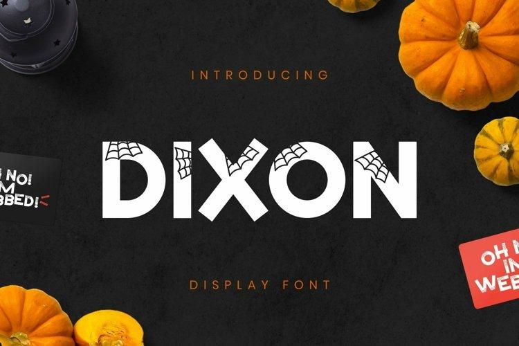 Web Font DixonFont example image 1