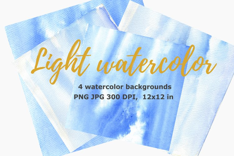 light Blue watercolor background, blue texture example image 1
