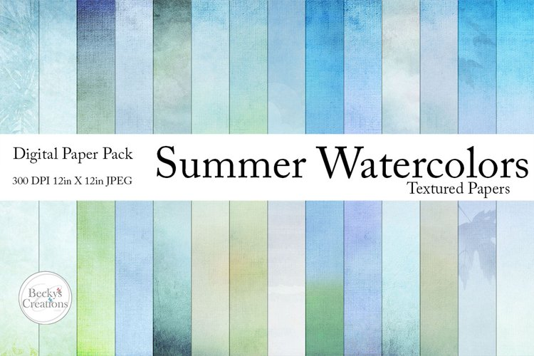 Summer Watercolor Paper Pack example image 1
