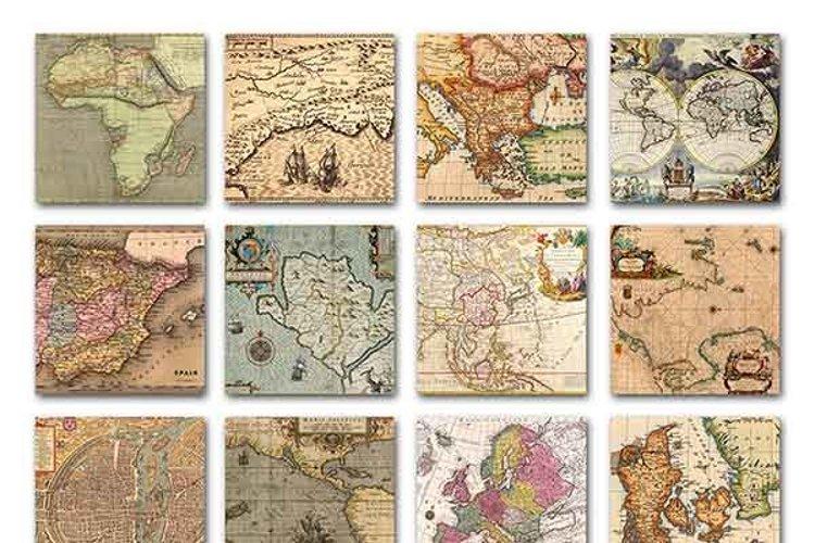 Old Maps Digital Paper - Free Design of The Week Design0