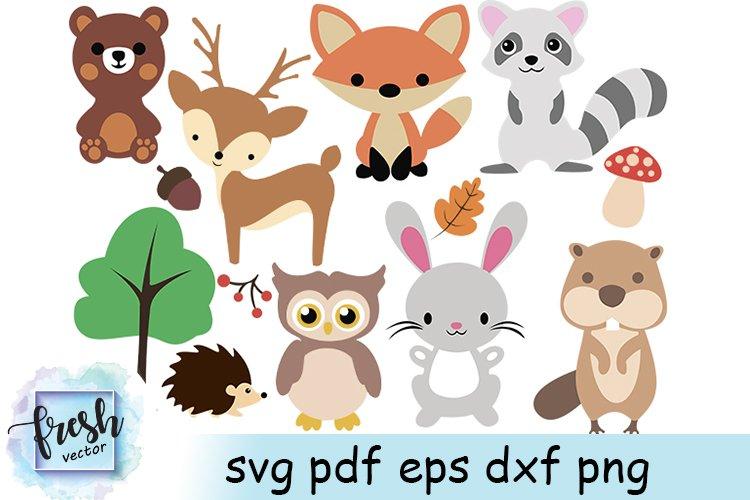Woodland Animals Svg Woodland Animals Clipart Wild Animals example image 1