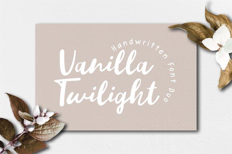Vanilla Twilight // Handwritten Font Duo example image 1