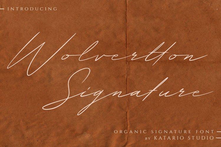 Wolvertton Signature example image 1
