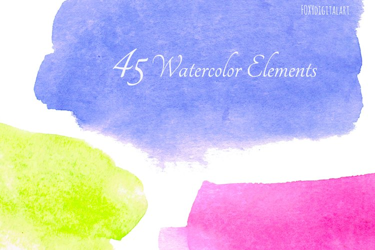 Watercolor Background Watercolor Blotches example image 1