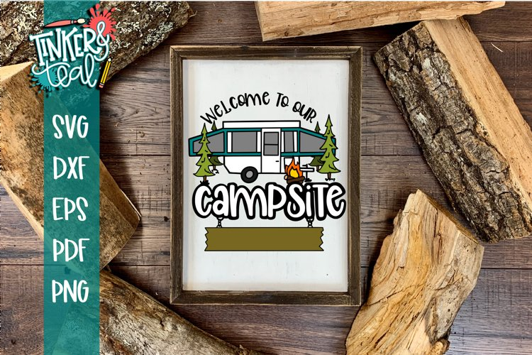 Custom Welcome To Our Camper Pop Up SVG example image 1
