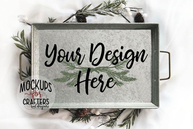 Metal Tray Mock-Up - Rectangle, Christmas, Festive