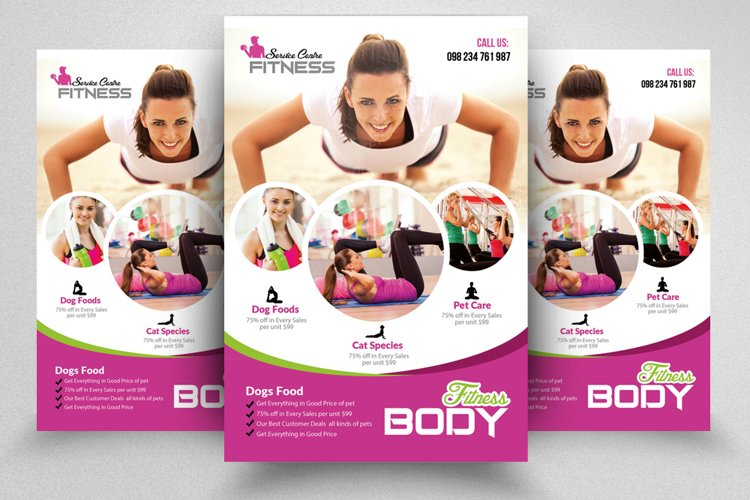 Body Fitness Flyer Template example image 1