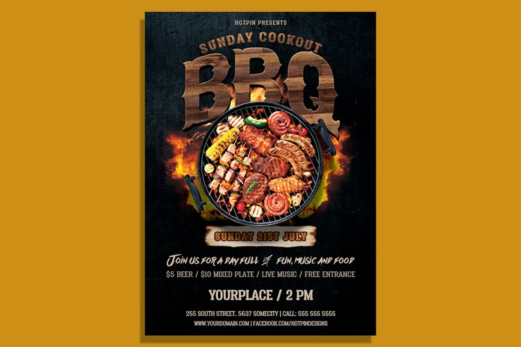 Barbecue Bbq Flyer Template example image 1