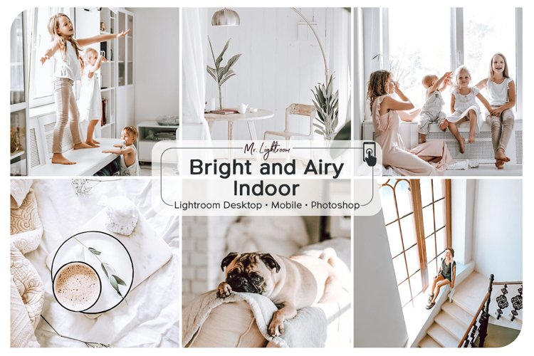Bright and Airy Indoor Lightroom Desktop and Mobile Presets example image 1