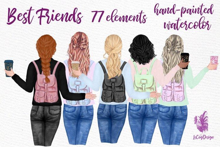 Best Friends clipart Girl illustrations Girly Planner Bff