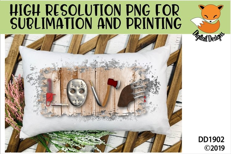 Scary Horror Movie Love PNG for Sublimation example image 1