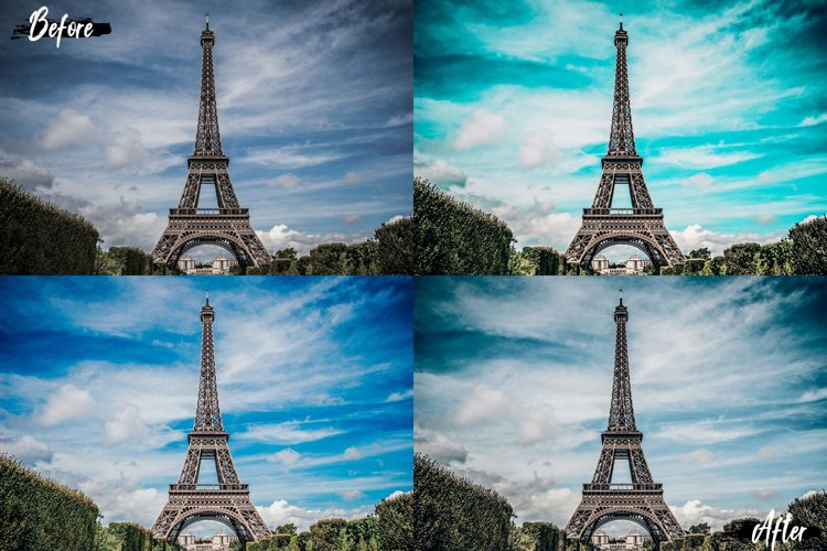 25 Landscape Photoshop Actions, ACR and LUT Presets example image 1