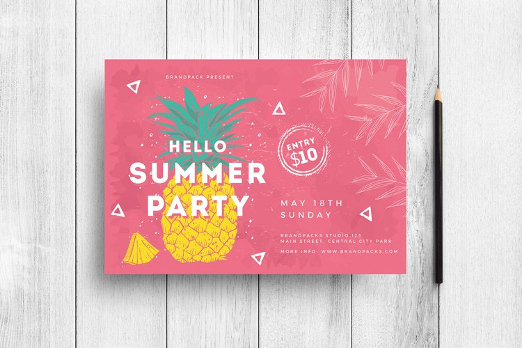Minimal Summer Flyer Template example image 1