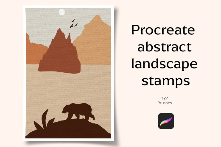 Procreate abstract landscape stamps