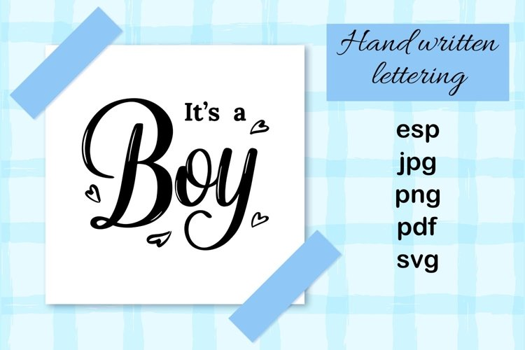 It's a boy hand drawn card example image 1