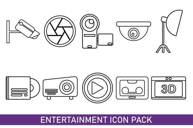 Entertainment Icon Bundles Line Art example image 1
