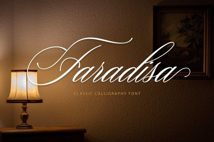 Web Font Faradisa Script example image 1