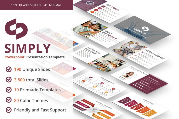 Simply multipurpose PowerPoint Presentation Template example image 1