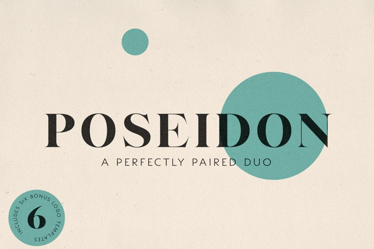 Poseidon // A Perfectly Paired Serif and Sans Serif Font Duo example image 1