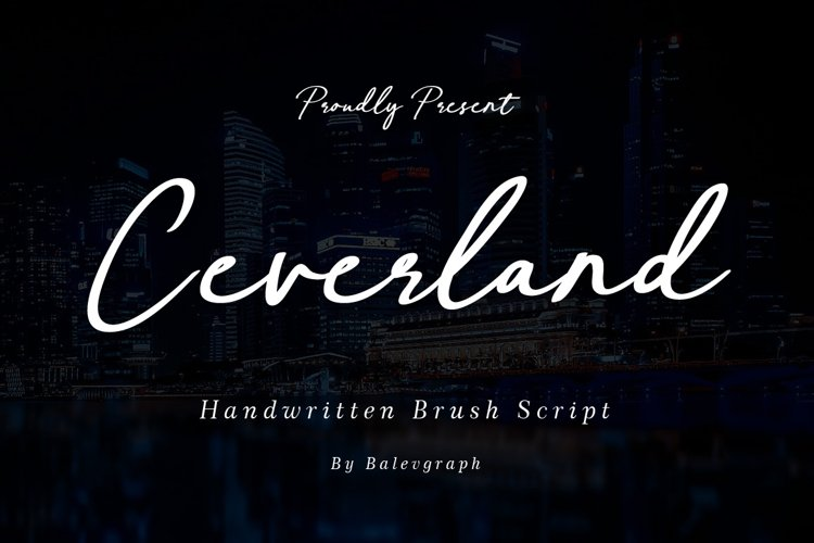 Ceverland Handwritten Brush Font example image 1