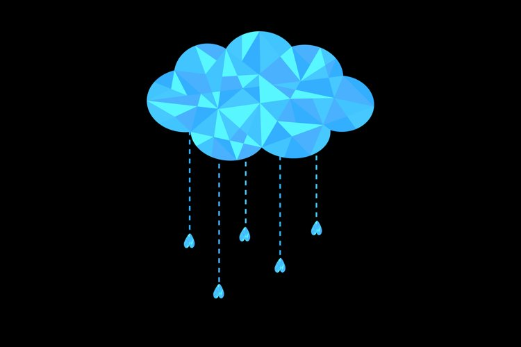 Cloud with hanging drops. Vector illustration example image 1