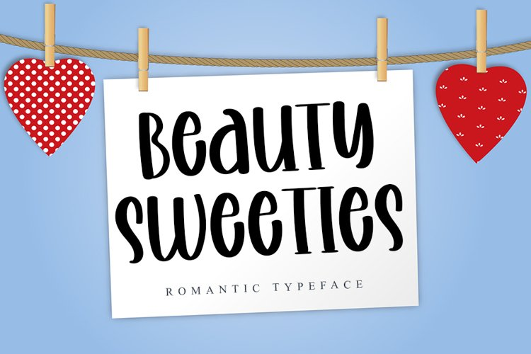 Beauty Sweeties | A Romantic Handwritten Font example image 1