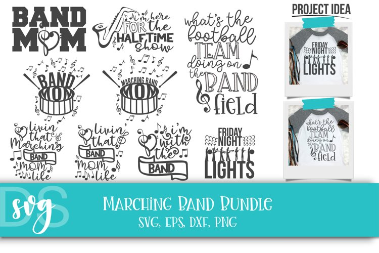 Drum Major, Marching Band, School Band, SVG, PNG, DXF, EPS example image 1