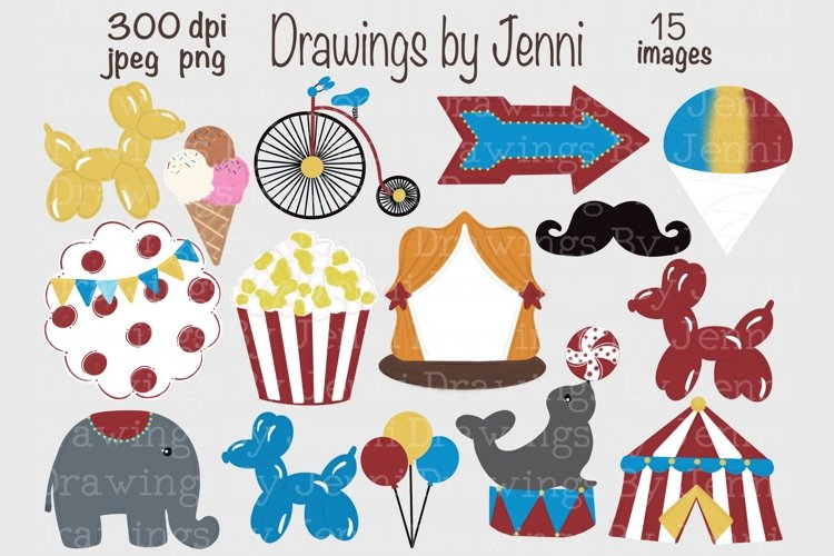 Circus Clipart, Carnival Illustrations
