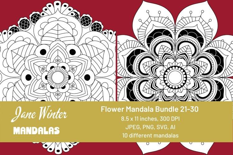 Flower Mandala Bundle 21-30