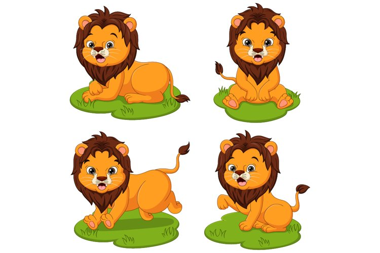 Cute Baby Lion Cartoon Collection